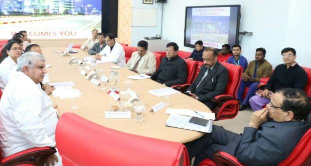 नीति आयोग की टीम ने एम्स के कार्यो पर संतोष व्यक्त किया