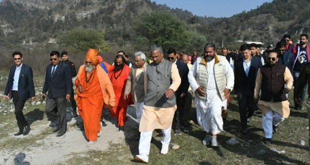 मुख्यमंत्री ने किया हरिद्वार के कुम्भ मेला क्षेत्र का निरीक्षण