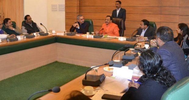 जिला विकास समन्वय एवं निगरानी समिति की समीक्षा बैठक ली केंद्रीय मानव संसाधन विकास मंत्री रमेश पोखरियाल निशंक ने