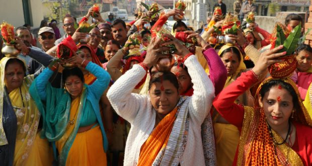 राधा कृष्ण मन्दिर में शिव का जयघोष शुरू,कलश यात्रा सम्पन्न
