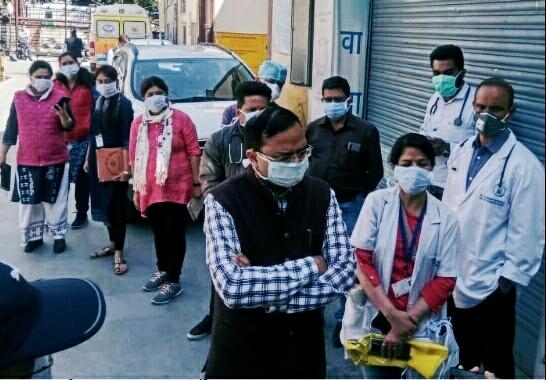 राजधानी में कोरोना वायरस कोविड-19 के संक्रमण को लेकर माॅकड्रिल