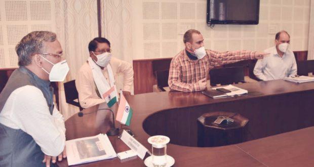 मुख्यंमंत्री त्रिवेंद्र ने रेल विकास निगम लि.के साथ ऋषिकेश-कर्णप्रयाग रेल लाइन निर्माण के कार्यों की प्रगति की समीक्षा
