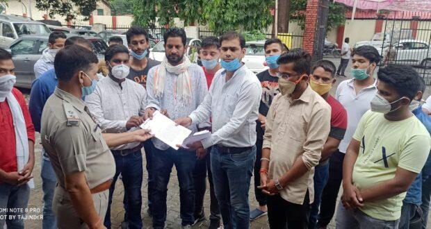 युवा कांग्रेस ने कोंग्रेस नेता ओर प्रवक्ता की मृत्यु के बाद भाजपा नेता संबित पात्रा को दोषी मान गेर इरादतन हत्या का मुकद्दमा लिखाने को तहरीर दी।