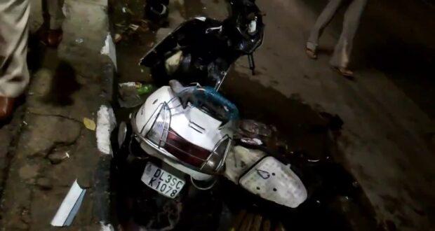 स्कूटी बाइक भिड़ंत में बाइक सवार की मौत