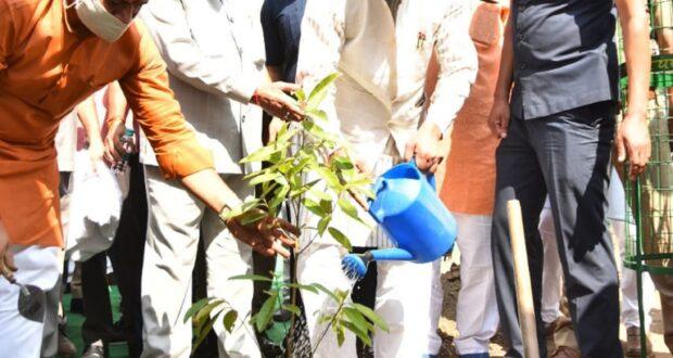 सीएम त्रिवेन्द्र ने देहरादून में और पार्टी के राष्ट्रीय अध्यक्ष जेपी नड्डा ने वर्चुअल भाजपा प्रदेश कार्यालय भवन का भूमि पूजन एवं शिलान्यास किया