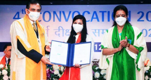 डीआईटी के दीक्षांत समारोह में 1434 छात्रों को मिली डिग्री,राज्यपाल बेबिरानी ने किया प्रतिभाग