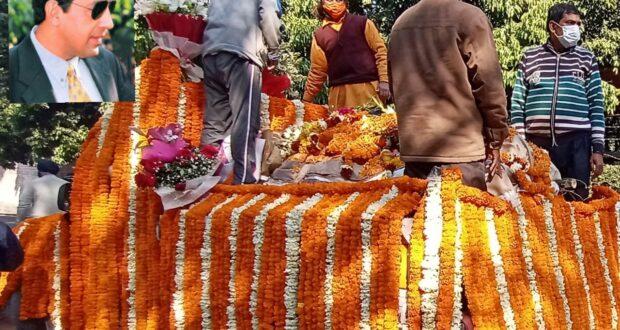 प्रसिद्ध शिक्षाविद रविनारंग कि अंत्येष्टि देहरादून के लक्खी बाग़ में बहनों मधु और रोहिनी ने की