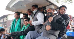 रुद्रपुर में जमा हुए कांग्रेसियों ने किसानों संग निकाली किसान बिल के विरोध में ट्रैक्टर रैली