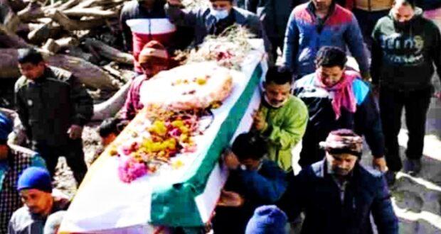इम्फाल आंतकवादी हमले में शहीद रणवीर की हल्द्वानी में अंत्येष्टि