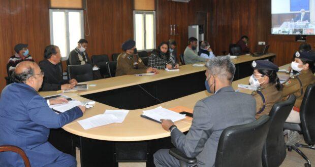 केंद्रीय गृह सचिव अजय कुमार भल्ला ने विडियो कांफ्रेंसिंग में सुरक्षा एजेंसीयों के साथ चमोली आपदा को ली समीक्षा बैठक
