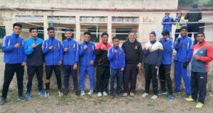 राज्य स्तरीय पुरूष मुक्केबाजी प्रतियोगिता -2021हेतु जिला देहरादून की बॉक्सिंग टीम का चयन