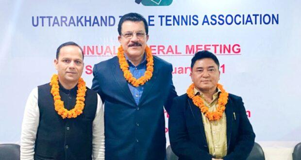 उत्तराखण्ड टेबल टेनिस संघ चुनाव में चेतन गुरूग अध्यक्ष व प्रिंस विपिन महासचिव बने
