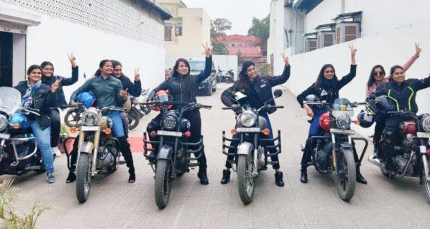 महिला बाइकर्स ने निकाली रैली,रिबेल बाइकर्स ग्रुप ने महिला दिवस पर महिला राइडर्स का किया सम्मान