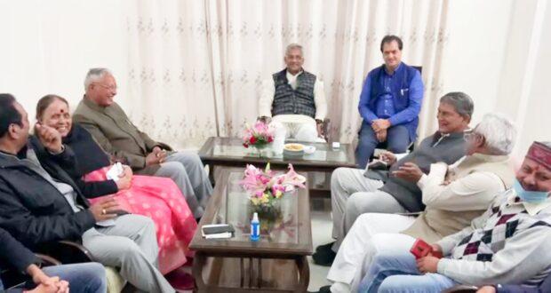 भराड़ीसैंण पहुंचे पूर्व मुख्यमंत्री हरीश रावत,विधानसभा अध्यक्ष,सीएम और विधायको से की शिष्टाचार भेंट
