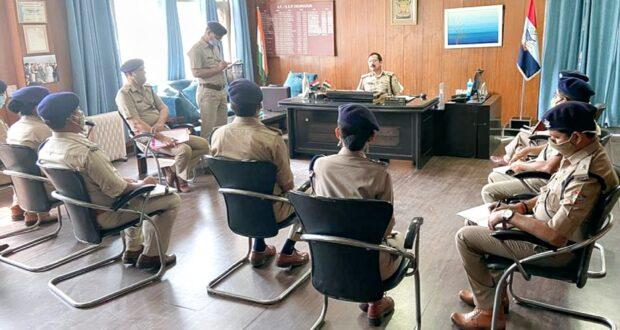एसएसपी योगेंद्र रावत ने कोरोना पर सरकारी नियमो पर आयोजित की गोष्ठी में दिए दिशा निर्देश