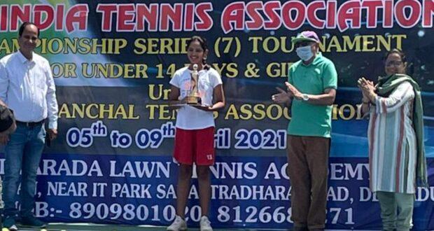 हेरिटेज की दीया ने जीती ऑल इंडिया टेनिस चैंपियनशिप