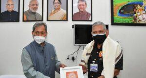 भारत के चीफ डिफेंस स्टाफ जनरल बिपिन रावत ने सीएम तीरथ से भेंट की