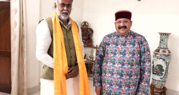 सतपाल महाराज चुनाव प्रचार को पश्चिम बंगाल पहुंचे,केन्द्रीय मंत्री प्रह्लाद पटेल से हुई चर्चा