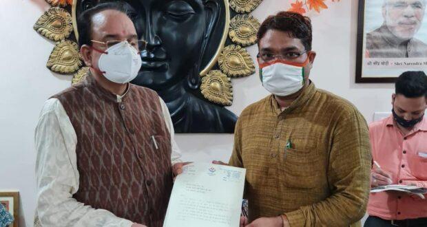 भाजपा पार्षद सतीश कश्यप ने  केंद्रीय रक्षा एवं पर्यटन राज्य मंत्री अजय भट्ट को दिल्ली में पत्र दे  की भद्रकाली पर धार्मिक पर्यटन हेतु सुविधाओं की मांग